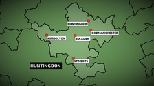 The Conservatives won the Huntingdon constituency in Cambridgeshire at the 2010 General Election with a majority of nearly 11,000 votes.