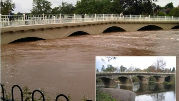 Flooding at River Teme