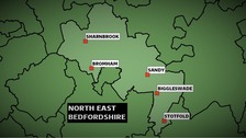 The Conservatives won the North East Bedfordshire constituency at the 2010 General Election with a majority of nearly 19,000 votes.