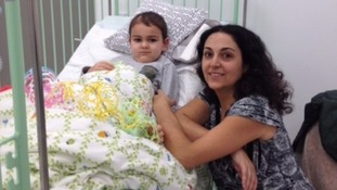 Ashya with his mother Naghmeh King in October after undergoing proton therapy.
