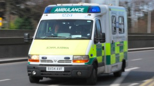 A small child and two adults have been taken to hospital after a car crash in Warwickshire yesterday