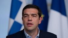 Greek prime minister Alexis Tsipras meet Angela Merkel in Berlin today.
