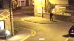 Police want to speak to two people seen near the alleyway behind her house.