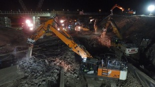 The rubble created by the demolition will be re-used to make the new junction