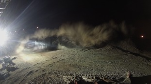 The dust cloud created by the explosion