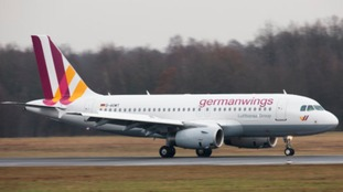 General view of a Germanwings plane