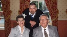 Steven Heaney and his parents.