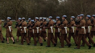 Soldiers from 4 Regiment Army Air Corps mark the 70th anniversary of Operation Varsity