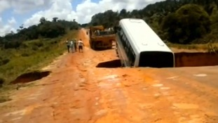The bus is swallowed up in Brazil