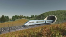 Promotional picture of HS2 rail link.