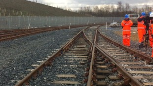 The line that links the factory with the rail network