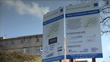 West Cumberland Hospital has been the focus of protests.