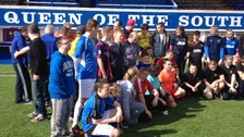 Youngsters with learning disabilities visited the ground.