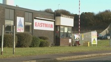 The Eastman chemical factory in Workington.
