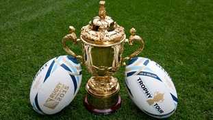 The Webb Ellis Trophy - heading west