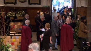 The ceremony is being held at Leicester Cathedral