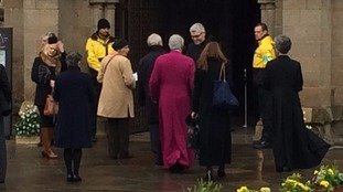 Archibishop of Canterbury Justin Welby arriving at Leicester Cathedral in the last 30 mins