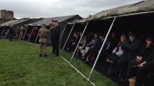 Friends and family of the soldiers have gathered at Richmond Castle to see the ceremony