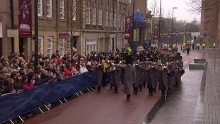The march of honour processed through Leicester