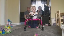 Girl given hours to live takes first steps