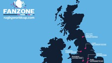 Official Rugby World Cup 2015 Fanzones map.