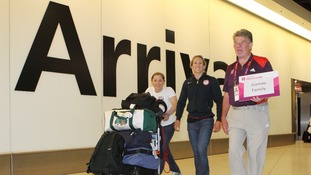 embers of the USA Olympic Team are met by LOCOG members