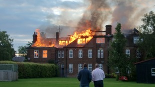 Blaze at Felsted School captured on camera