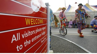 Clowns arrive at Butlins in Bognor Regis, West Sussex
