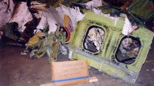 Wreckage from the 1999 EgyptAir plane crash