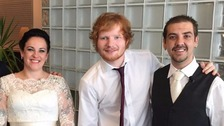 Ed Sheeran surprised Matt and Kya on their special day.