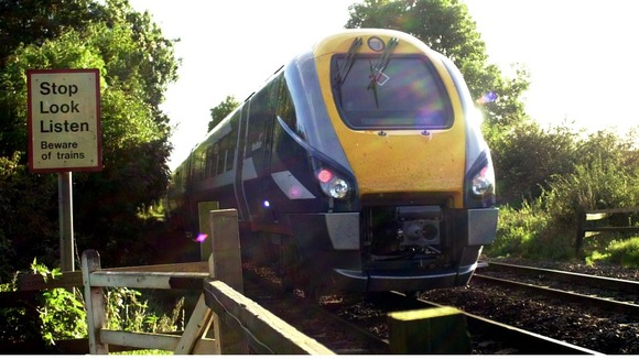 A Midland Mainline  train headIing towards Nottingham 