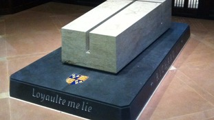 Richard III's tomb at Leicester Cathedral
