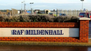 RAF Mildenhall in Suffolk.