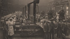 Works in a Manchester munitions factory during the First World War.