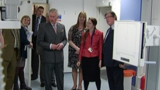 Prince Charles views the new X-Ray unit