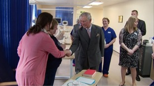 Prince Charles meets patients