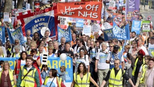 Hundreds are expected to march in Nottingham today in defence of NHS services.