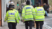 File photo of police officers in London
