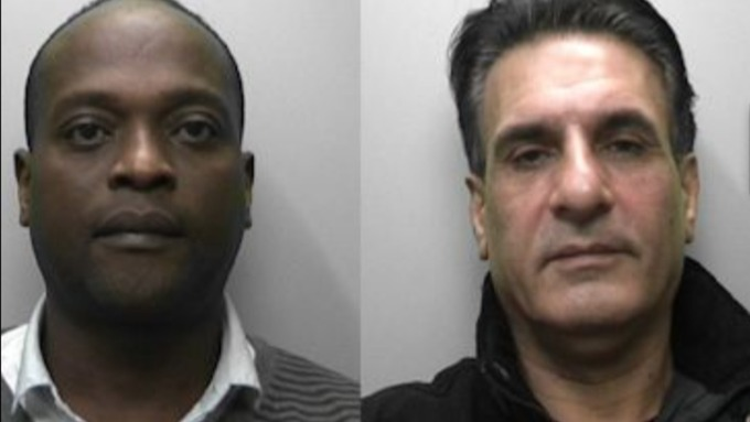 Stephen Daramola, 48, from Eastbourne and Mohammed Kamali, 46, from Newhaven Photo: Sussex Police - stream_img