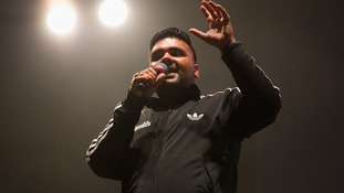 Naughty Boy speaking at Wembley Arena