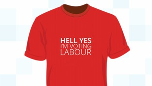 The 'Hell Yes' t-shirts available to Labour donors.