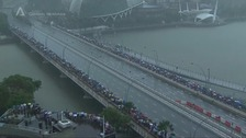 Crowds in Singapore