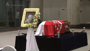 Lee Kuan Yew's coffin