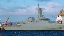 Omani warship