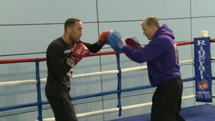 Packing a punch - DeGale in training at St George's Park.