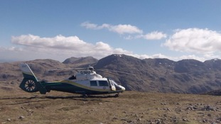 The Pride of Cumbria attending another call on Green Gable