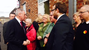He has been meeting supporters in Burton