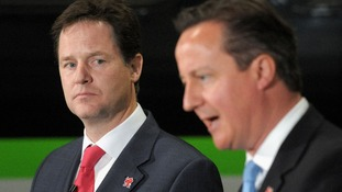 David Cameron Nick Clegg Olympic G4S