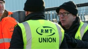 RMT Union workers at another strike