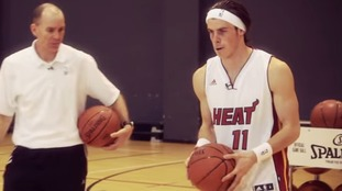Gareth Bale holding basketball